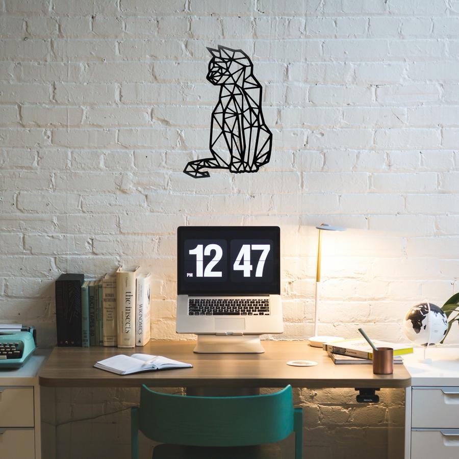 Laser Cut Geometric Cat Wall Art Free Vector