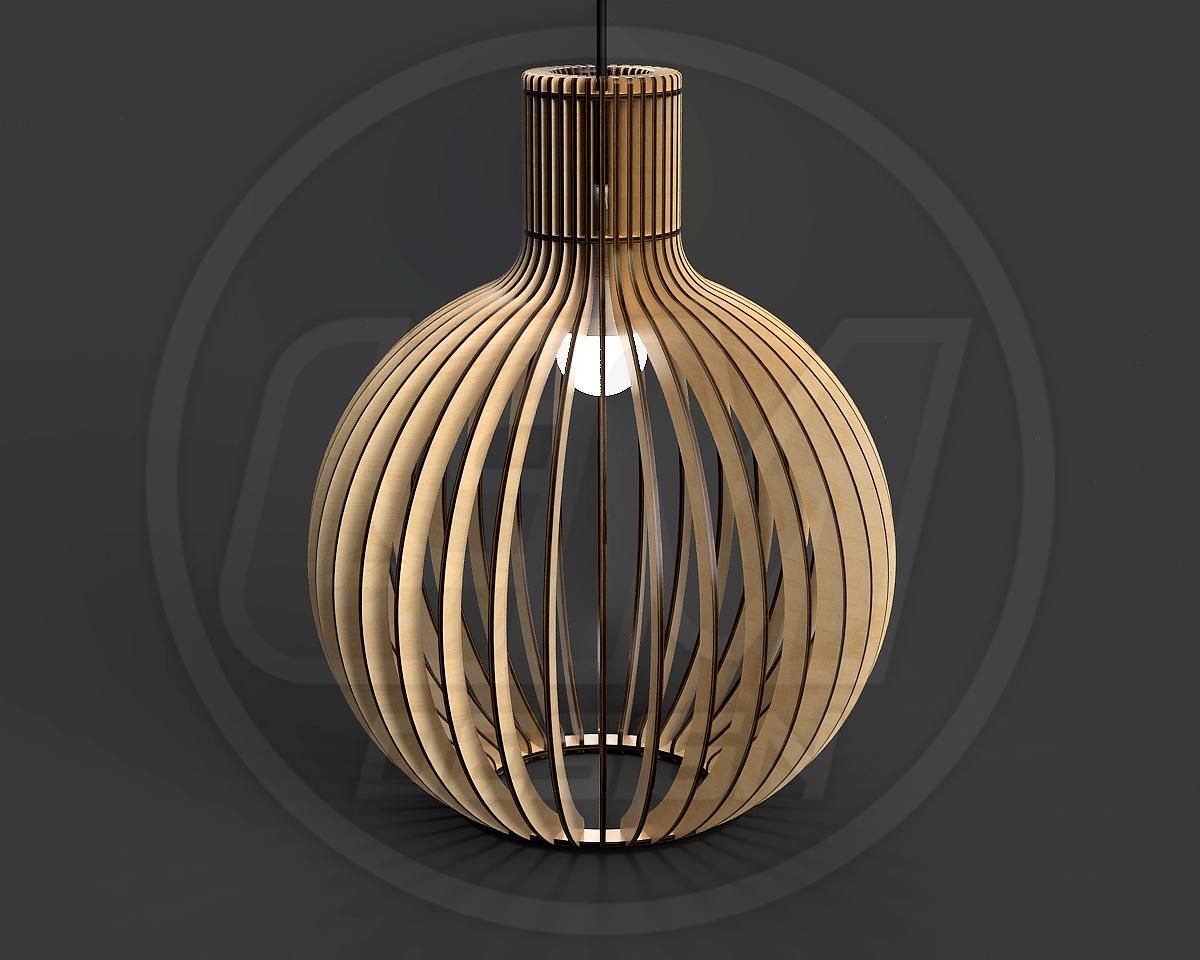 Laser Cut Pendant Light Chandelier Lamp Free Vector