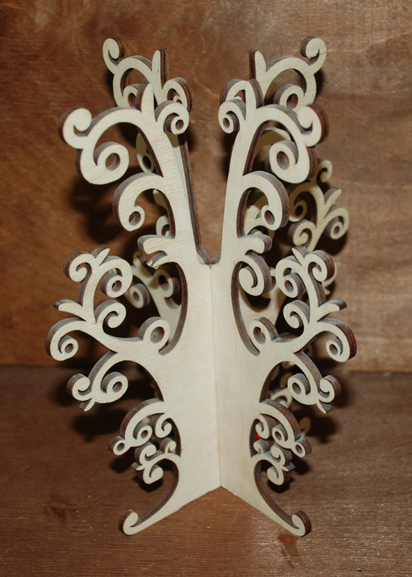Laser Cut Jewelry Tree Stand Earring Necklace Tree Holder Organizer Free Vector