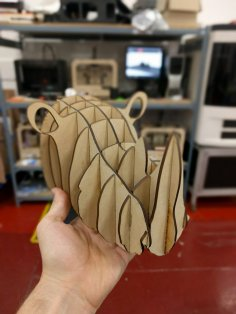 Laser Cut Rhino Head 3mm MDF PDF File