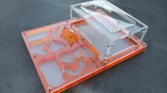 Laser Cut Antfarm 200x150x50mm DXF File