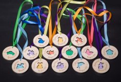Laser Cut Wooden Medals For School Free Vector