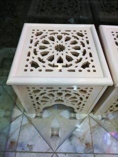 Laser Cut Decorative Stool CNC Router Plans DXF File