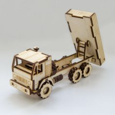Laser Cut Dump Truck Toy Free Vector