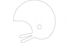 Helmet silhouette dxf File