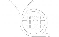 Horn Tuba dxf file