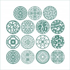 Round Ornaments Vectors