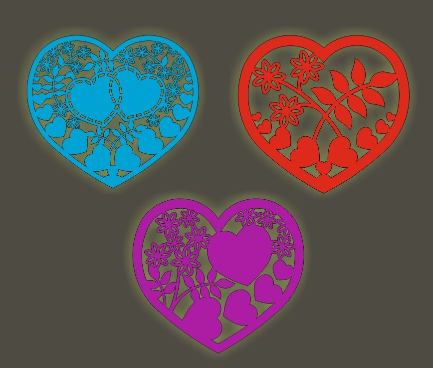 Free Free Vector Laser Cutting Hearts Free Vector