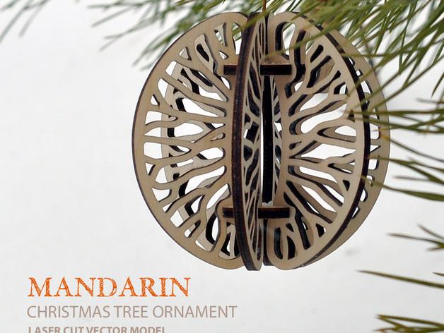Mandarin. Christmas tree ornament DXF File