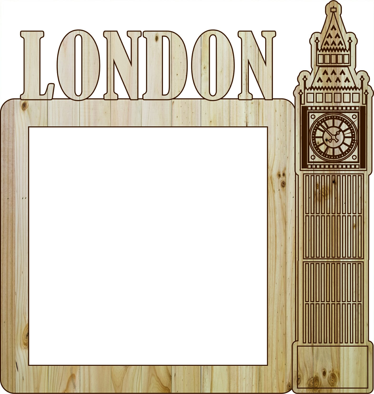Laser Cut Photo Frame London Free Vector