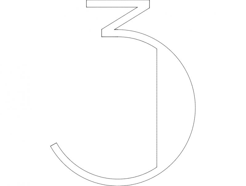3 Number dxf File