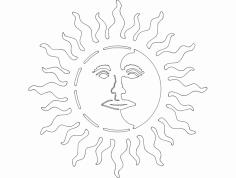 Sun Moon dxf File