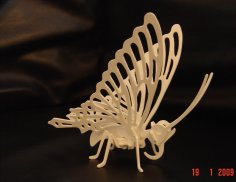 Laser Cutting Butterfly 3D Puzzle PDF File