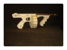 Tommy Gun Laser Cut PDF File