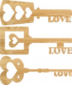 Heart Key Love Keys Free Vector