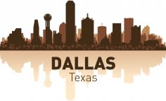 Dallas Skyline Free Vector