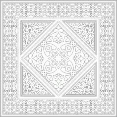 Geometric Islamic Ornament Art Pattern DWG File