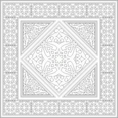 Geometric Islamic Ornament Art Pattern DWG File