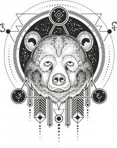 Bear Print Free Vector