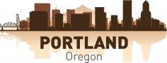 Portland Skyline Free Vector