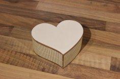 Heart Box Laser Cut SVG File