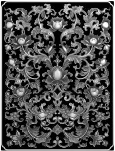 Floral 3D Model for CNC Bitmap (.bmp) file format BMP File