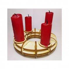 Candlestick Holder Laser Cut Free Vector