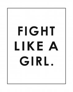 Fight Like a Girl Poster Free Vector