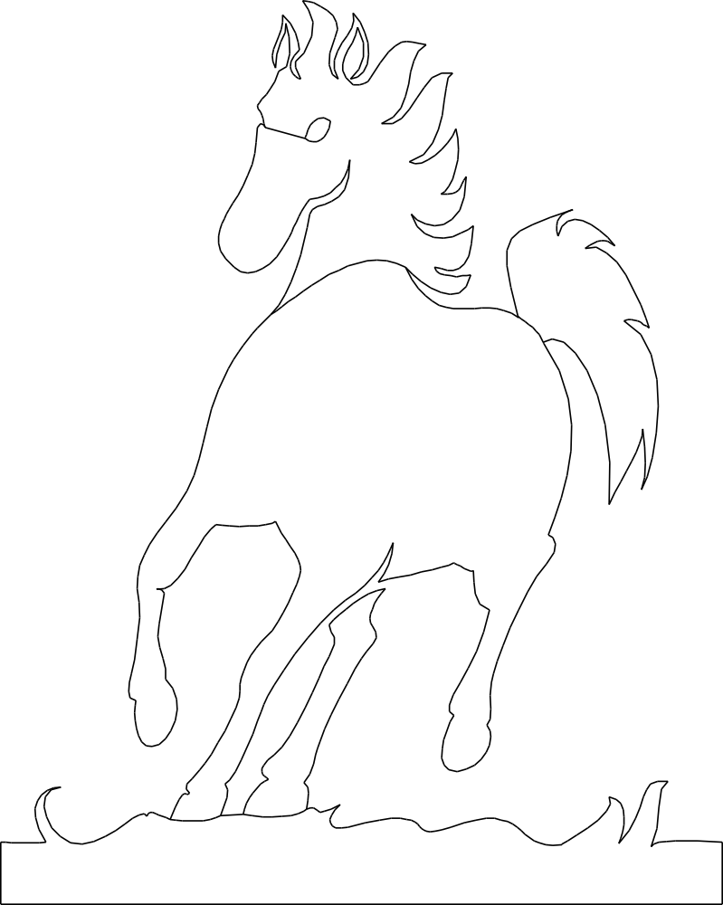 Running Horse DXF File