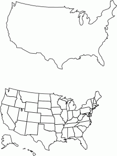 All 50 States DXF File