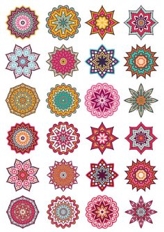 Mandala Decorative Elements Free Vector