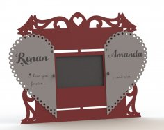 Couple Photo frame DXF File