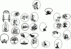 Illustration of Scene Vectors CDR File