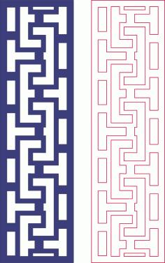 Beautiful border decorative pattern DXF File