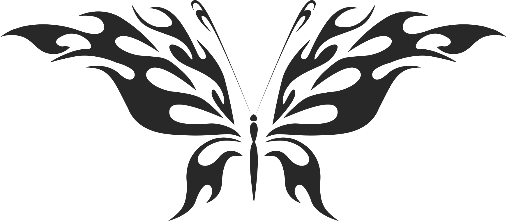 Tribal Butterfly Vector Art 45 DXF File