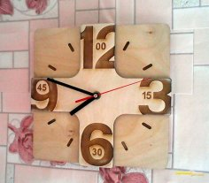 Laser Cutting Wall Clock CDR File