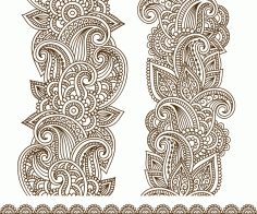 Drawn Mehndi Vector