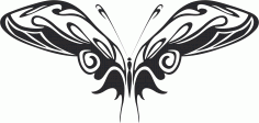 Tribal Butterfly Vector Art 15 DXF File