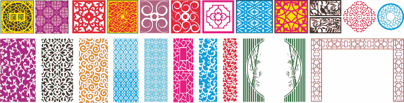 2D Vector panel designs for CNC Router Laser Cutting Free Vector