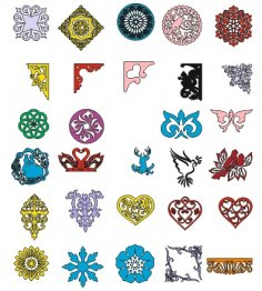 Floral ornaments collection Vector