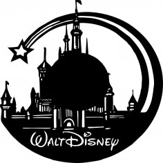 Walt Disney Vinyl Wall Clock CDR File