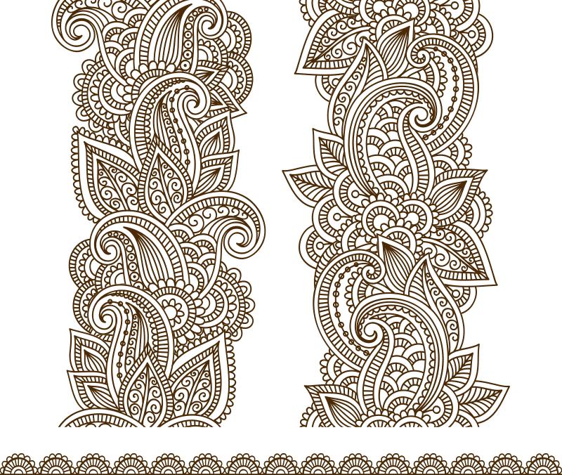 Vector Illustration Mehndi Vector Free Vector