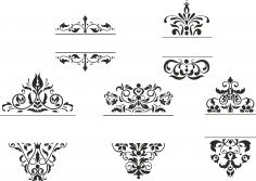 Ornament Frames Set Free Vector