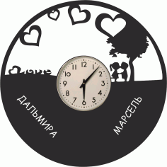Love Vinyl Clock Free Vector
