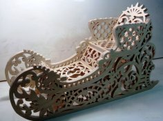 Decorative Sled Laser Cut PDF File