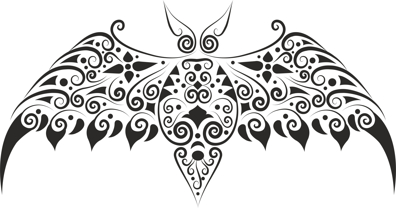 Bat Stencil Free Vector