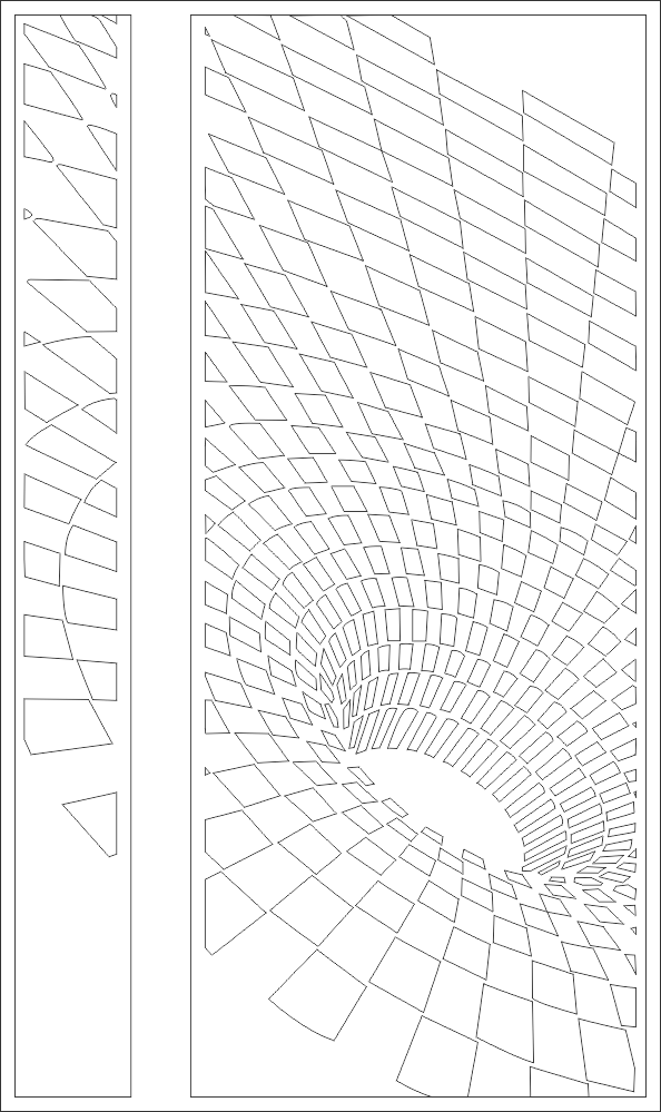 Illusion Typle Door For Plasma Cutting DXF File
