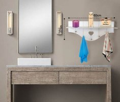 Bathroom Shelf Free Vector