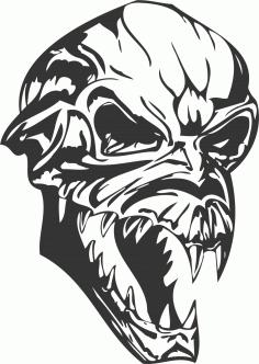 Halloween Skull DXF File