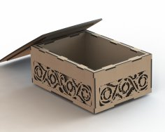 Box Decorated Double Wall Laser Cut